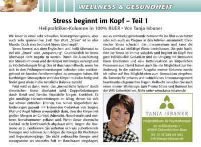 Stress beginnt im Kopf - Teil 1