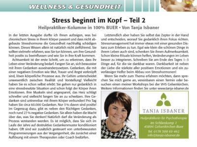Stress beginnt im Kopf - Teil 2