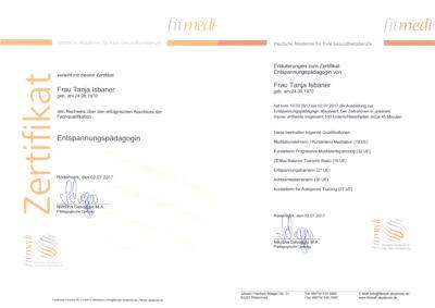 Zertifikat Entspannungspädagogin