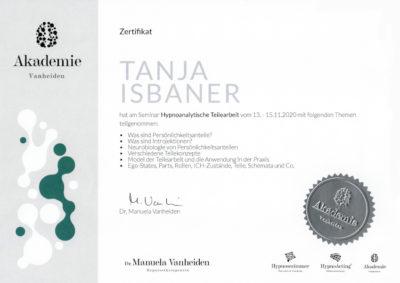 Zertifikat Hypnoanalytische Teilearbeit