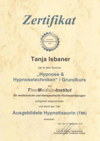 Zertifikat Hypnose & Hypnosetechniken / Grundkurs