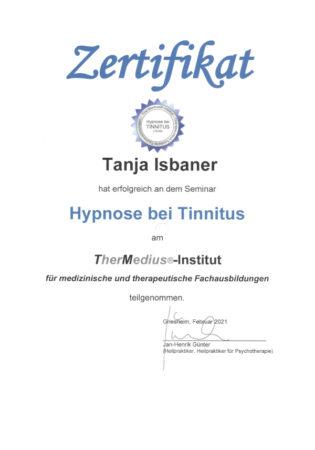 Zertifikat Hypnose bei Tinnitus