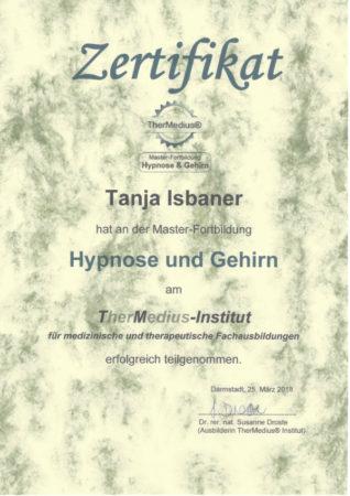 Zertifikat Hypnose und Gehirn