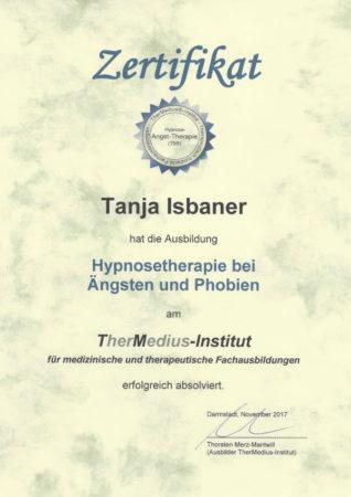 Zertifikat Hypnosetherapie bei Ängsten und Phobien