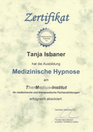 Zertifikat Medizinische Hypnose