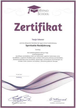 Zertifikat Spirituelle Rückführung