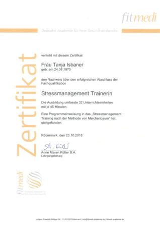Zertifikat Stressmanagement Trainerin