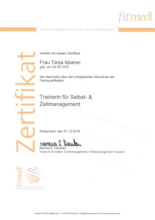 Zertifikat Trainerin für Selbst- & Zeitmanagement